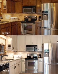 Kitchen cabinet refacing project by Kitchen Fronts of Georgia