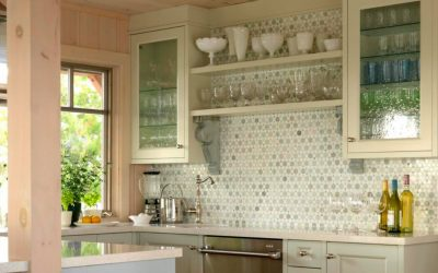 Create An Open, Inviting Kitchen With Glass Cabinet Doors
